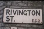 Rivington St sign