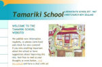 Picture of the Tamariki School Web site